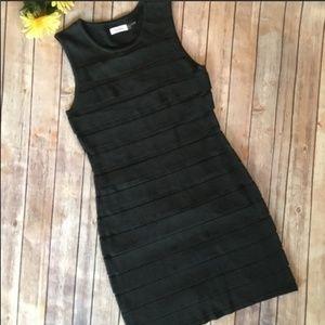 Calvin Klein Gray Ponte Sleeveless Dress Sz. M